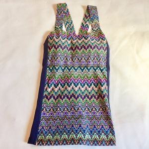 NWT PRISMSPORT multicolor workout top.